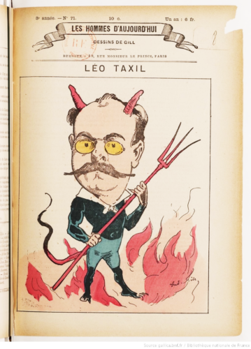 Léo Taxil (1854 - 1907 Les Hommes d'aujourd'hui n°71, dessin de Gill