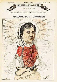 Marie-Louise Gagneur (1832 - 1902) Les Hommes d'aujourd'hui n° 223, dessin de A. Dreux